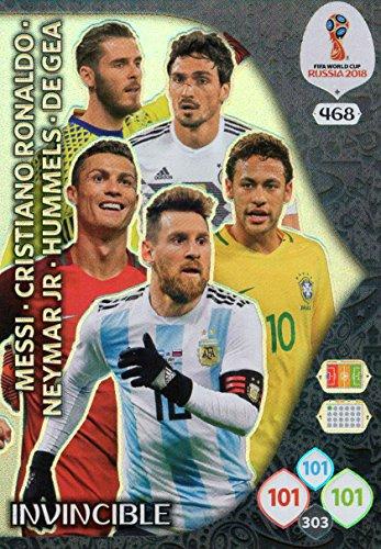ADRENALYN XL FIFA WORLD CUP 2018 INVINCIBLE CARD - RONALDO MESSI NEYMAR ETC