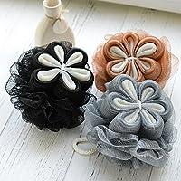 Kaige Baño bola flor baño personal limpia baño flor baño baño ducha toalla espuma baño suministros un paquete tres piezas