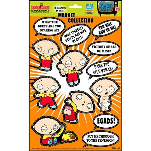 Click for larger image of Family Guy Stewie Quotes Magnet Collection
