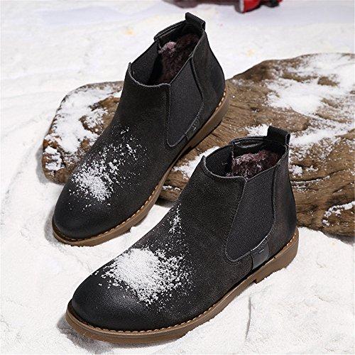 i britannici occasionale scarpe scarpe vintage martin stivali alti stivali gray