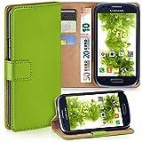 moex Samsung Galaxy S3 Mini | Hülle Grün mit Karten-Fach 360° Book Klapp-Hülle Handytasche Kunst-Leder Handyhülle für Samsung Galaxy S3 Mini S III Case Flip Cover Schutzhülle Tasche
