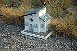"""Luxus-Vogelhaus 12283FSC Kombination: Dekorativer Nistkasten und Futterhaus """"Bed and Breakfast"""" mit Kiesterrasse, weiߟ lackiert - 2"""
