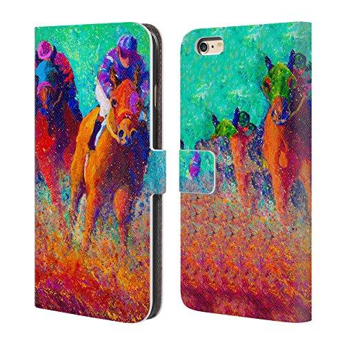 Ufficiale Marion Rose Cavalli Free Range Cavallo Cover a portafoglio in pelle per Apple iPhone 6 Plus / 6s Plus Thundering Hooves