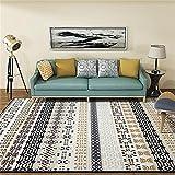 GRENSS Die nationalen Stil Wohnzimmer dekorativen Teppich Tür Yoga Mat Pad Badezimmer Teppich Rot Schwarz ethnische Gestreifte Floral, ethnischen gelb, 60 x 90 cm 23 x 35 Zoll