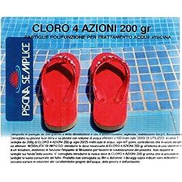 Lapi – 10 Kg Cloro 4 Azioni nuovo prodotto 2014 ex Tripla Azione In Pastiglie 200 Gr. Alghicida Clorante Stabilizzante e flocculante A LENTA Dissoluzione.