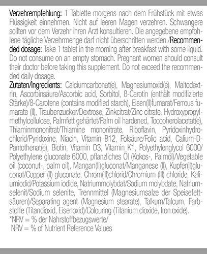 Body Attack Multi Vitamin, 200 Tabletten, 2er Pack (2x 140g), Dose - 6