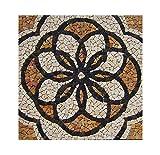 RO-002 90 x 90 cm Marmor Rosone mediterran Einleger Mosaikfliesen Bild Dekoration Stein-Mosaik Fliesen Lager Verkauf Herne NRW