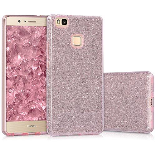 kwmobile Cover per Huawei P9 Lite - Custodia Morbida in Silicone TPU - Back Case Protezione Posteriore per Cellulare Rosa