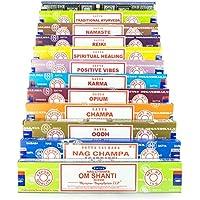 Satya verscheidenheid mix 12x15g boxen van wierookstokjes, bevat Nag Champa, Super Hit, Oodh, Positieve Vibes,... preisvergleich bei billige-tabletten.eu