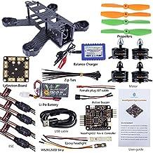 SunFounder SF210 210mm DIY Carbon Fiber FPV 4 Axis Racing Quadcopter Kit (Nazeflight32, MT2204 Motor 12A ESC,5045 Props) EMAX
