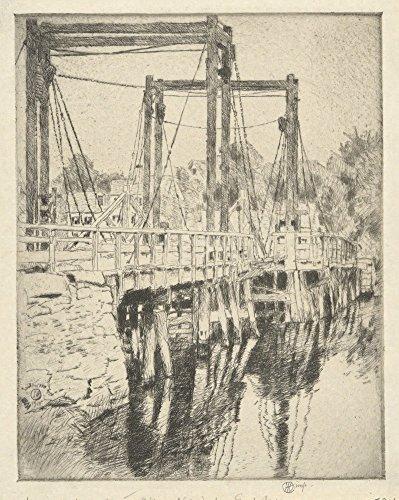 Das Museum Outlet–Old Maut Bridge, 1915, gespannte Leinwand Galerie verpackt. 50,8x 71,1cm