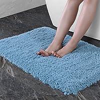 Norcho Microfibra Suave Alfombra de Caucho Antideslizante Lujosa Alfombra para Sala de estar Baño Lavable a Máquina, Azul