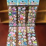 Sammelkarten–Das Zufällige Lot-3pcs Stickers/Aufkleber Familie Cochino Statue Mama, Papa, Bruder, Schwester–Peppa Pig Stickers Notizbuch Haus Wand Dekoration–Neun