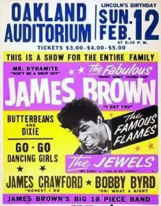 James Brown reproduction Concert photo affiche 40x30cms