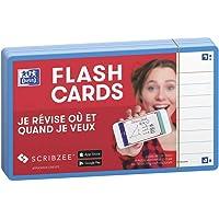 Oxford Flash 2.0 - 80 Fiches Bristol Flash Cards 7,5 x 12,5cm Ligné Cadre Turquoise
