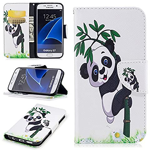 Portefeuille Etui pour Samsung Galaxy S7, Coffeetreehouse Coque Samsung Galaxy