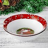 2 tlg. Set Schalen aus Porzellan, Große Salatschale, Suppenschale, Weihnachtsmann, Geschenk für Weihnachten