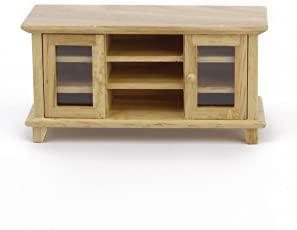 ROSENICE 1:12 Doll House TV Stand Miniature Furniture TV Cabinet