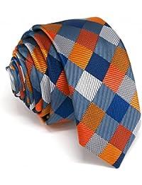 Shlax Wing La Moda único Hombre Seda Corbatas Para Multicolor a cuadros Extra  largo f9829e815b2