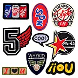 DIY Aufbuegelbilder Aufnaeher Aufbuegler Sticker Patch Applikation,9 Stk/Set