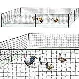 IDMarket - Kit clôture Filet à Poules 25 M avec Porte 9 piquets Double Pointes