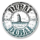 2x UAE Dubai Vinyl Aufkleber Aufkleber Laptop Reise Gepäck Auto Ipad Schild Fun # 6517 - 10cm/100mm Wide