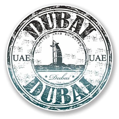 Preisvergleich Produktbild 2x UAE Dubai Vinyl Aufkleber Aufkleber Laptop Reise Gepäck Auto Ipad Schild Fun # 6517 - 10cm/100mm Wide
