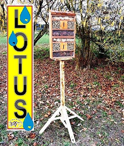 Insektenhaus dunkelbraun Teak Look mit Schmetterlingshaus braun insektenhotel - 4