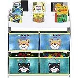 HOMFA Librería para guardar juguetes libros Estantería organizador 82.5 x 29.5 x 97.5 cm