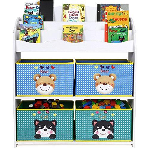 HOMFA Librería para guardar juguetes libros Estantería organizador 82.5 x 29.5 x...