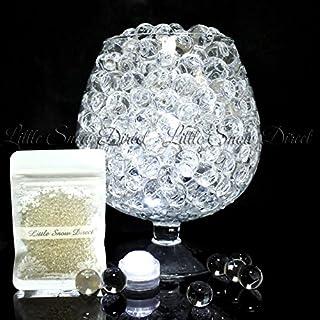 20g Aqua Water Crystal Beads Crystal Soil Gems Bio Gel Balls Wedding Vase Decoration - Waterproof LED Light Included - Clear