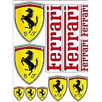 Adhesivo, diseño: Ferrari, 11 pegatinas