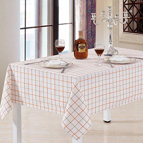 GBBD Tischdecken Rechteckige, Leinen Leinen Gittertischdecke, Weiß Karierten Tischdecke Tischtuch...