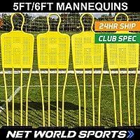 Net World Sports Football Free Kick Mannequins - (Junior/Senior Sizes) (Junior - Pack of 3)