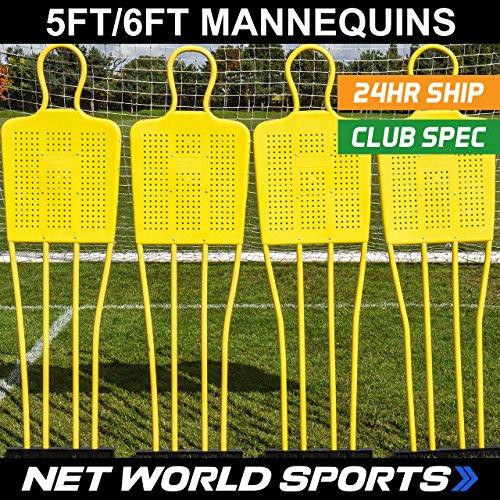 Football Free Kick Mannequins - (Junior / Senior Sizes) [Net World Sports] (Junior - Pack of 3)