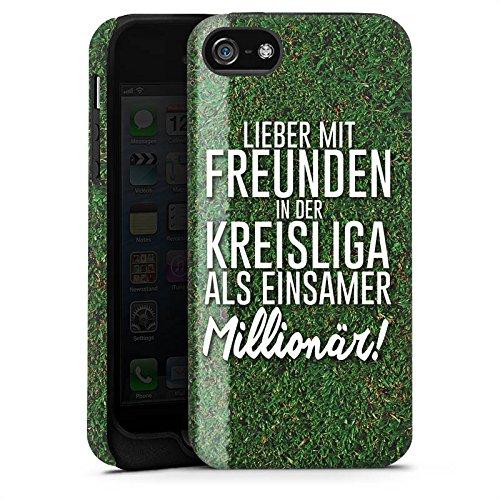 Apple iPhone X Silikon Hülle Case Schutzhülle Kreisliga Fußball Freunde Tough Case matt