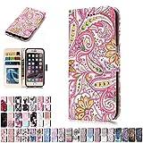 LA-Otter Coque Apple iPhone 5 5S Se Fleur Flip Case Housse Etui à Rabat Folio Motif...