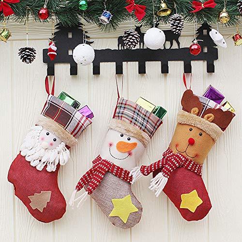 YiLianDa Decorazione Di Natale Appendere Calze Di Natale Calze Mode Regalo Ornamento Decori Del Calzino
