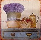 Rustikales Blechschild Lavendel Shabby Chic im Landhaus-Look Metallschild 30 X 30 cm