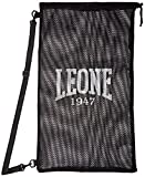 LEONE 1947 Mesh Bag Sacca Sportiva, Nero, Taglia Unica