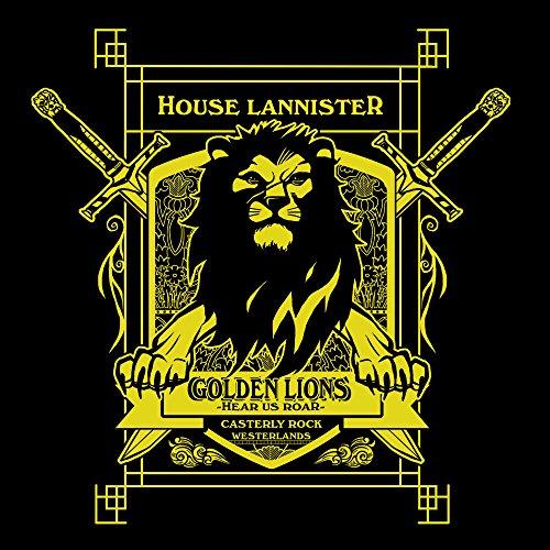 Game Of Thrones House Lannister Golden Lions Hear Us Roar Women's T-Shirt Black