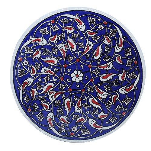 Turkceramics Round Coaster (Multicolor, OMRC16C-MIX1)