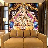 Papel tapiz mural 3D para sala de estar HD Print Dios indio Mural Dios hindú Buda Fondo Religión Poster Wall Art Photo Wallpaper(W)200cmx(H)140cm