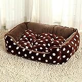 BiuTeFang Hundebett Katzenbett Baumwolle Pet Bett Haustier-Matte Flanell Hundehütte Bett