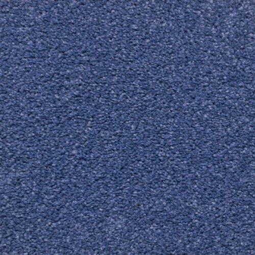 Blue Shag Pile Carpet, Shaggy Saxony Hessian Backed Deep Pile