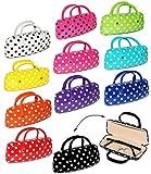 2 in 1 __ Brillenetui / kleine Tasche für Utensilien - ' bunte Farben ' - Hardcase / Hartschale - extrem stabil - Etui für Brille oder andere Kleinigkeiten - für Kinder & Erwachsene - Hartschalenetui / Metallverschluß - Federverschluß - Sonnenbrille - Lesebrille / gepunktet
