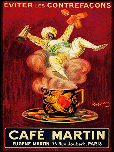 advert-cafe-martin-coffee-arab-turban-steam-cup-paris-france-poster-affiche-30x40-cm-12x16-in-bb7795