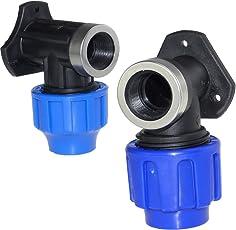 PE-Wandscheibe PE-Winkel verstärkt 20 mm x 1/2 Zoll (Trinkwasser geeignet)