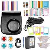 Neewer 10 en 1 Accesorios Conjunto de Cámara para Fujifilm Instax Mini 9/8+8/8s: Álbum/Selfie Lente/Filtros de Color/Wall Cuelgue Marcos/Marcos de Película Frontera/Pegatinas(Negro)
