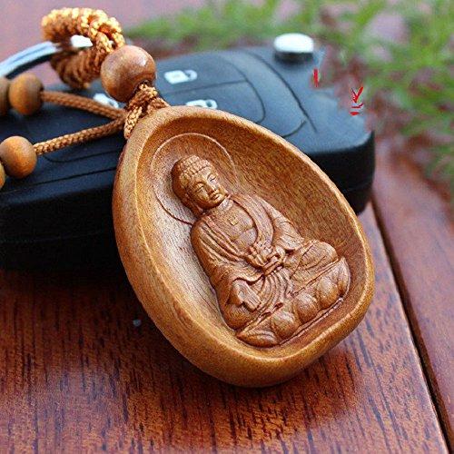 Schlüssel Schlüssel Schlüsselkette Buddha Holz Palisander + Metall (Buddha-schlüsselanhänger)